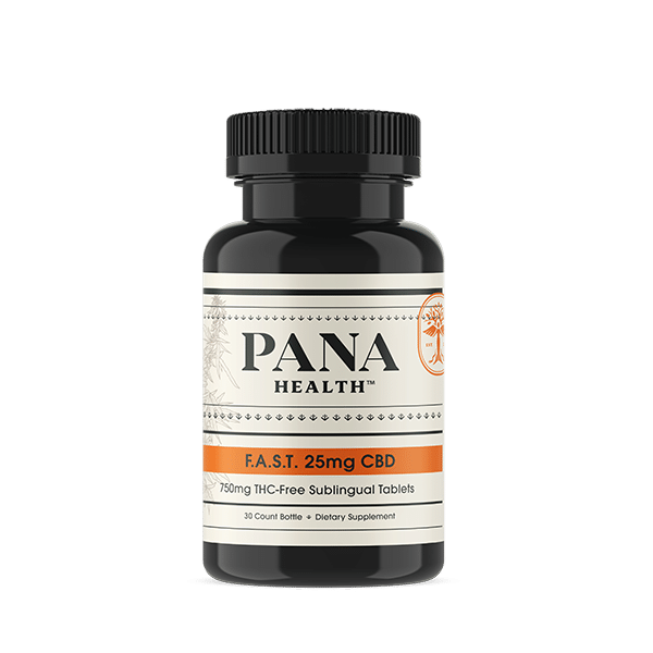 Pana Health F.A.S.T. 25mg CBD Tablets