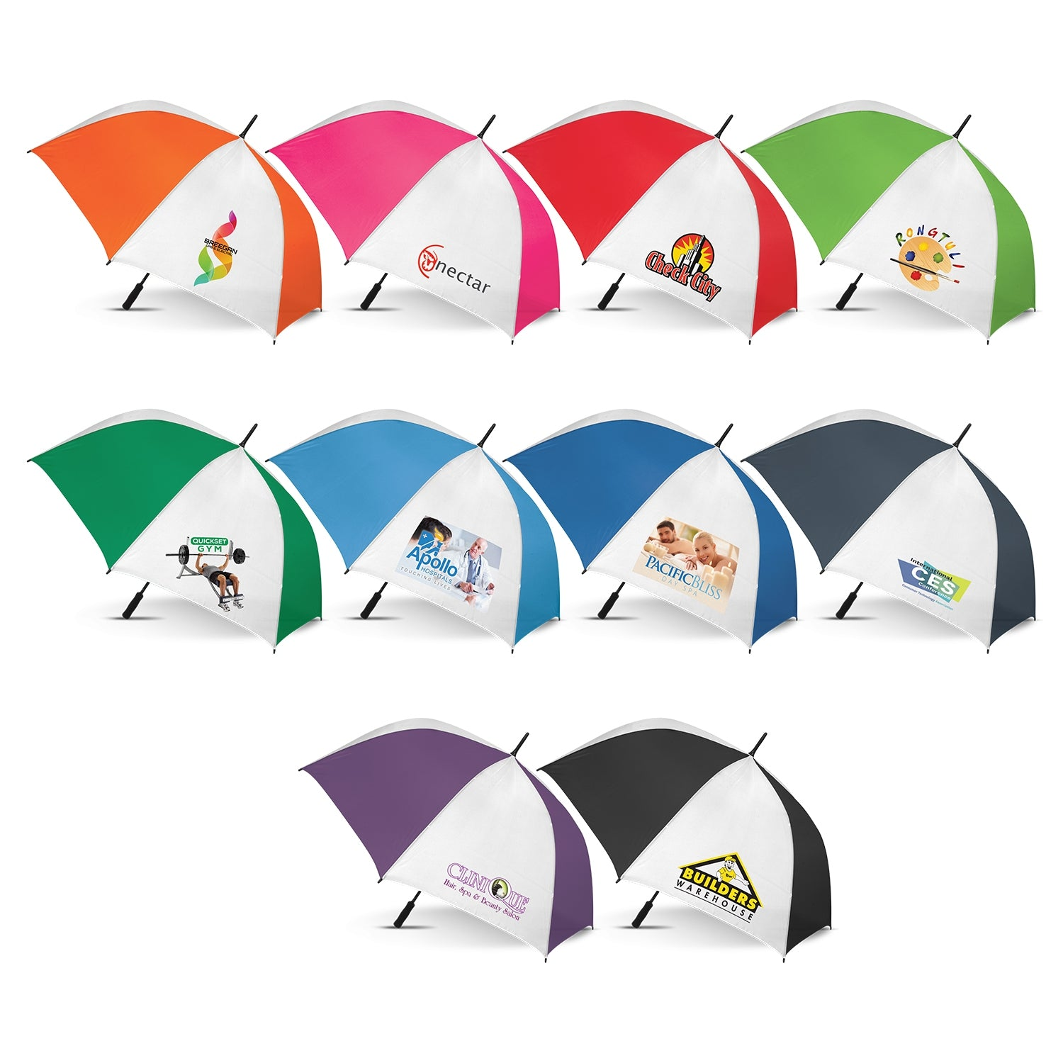Hydra Sports Umbrella With White Panels(SUM-07T) - greenpac.com.au
