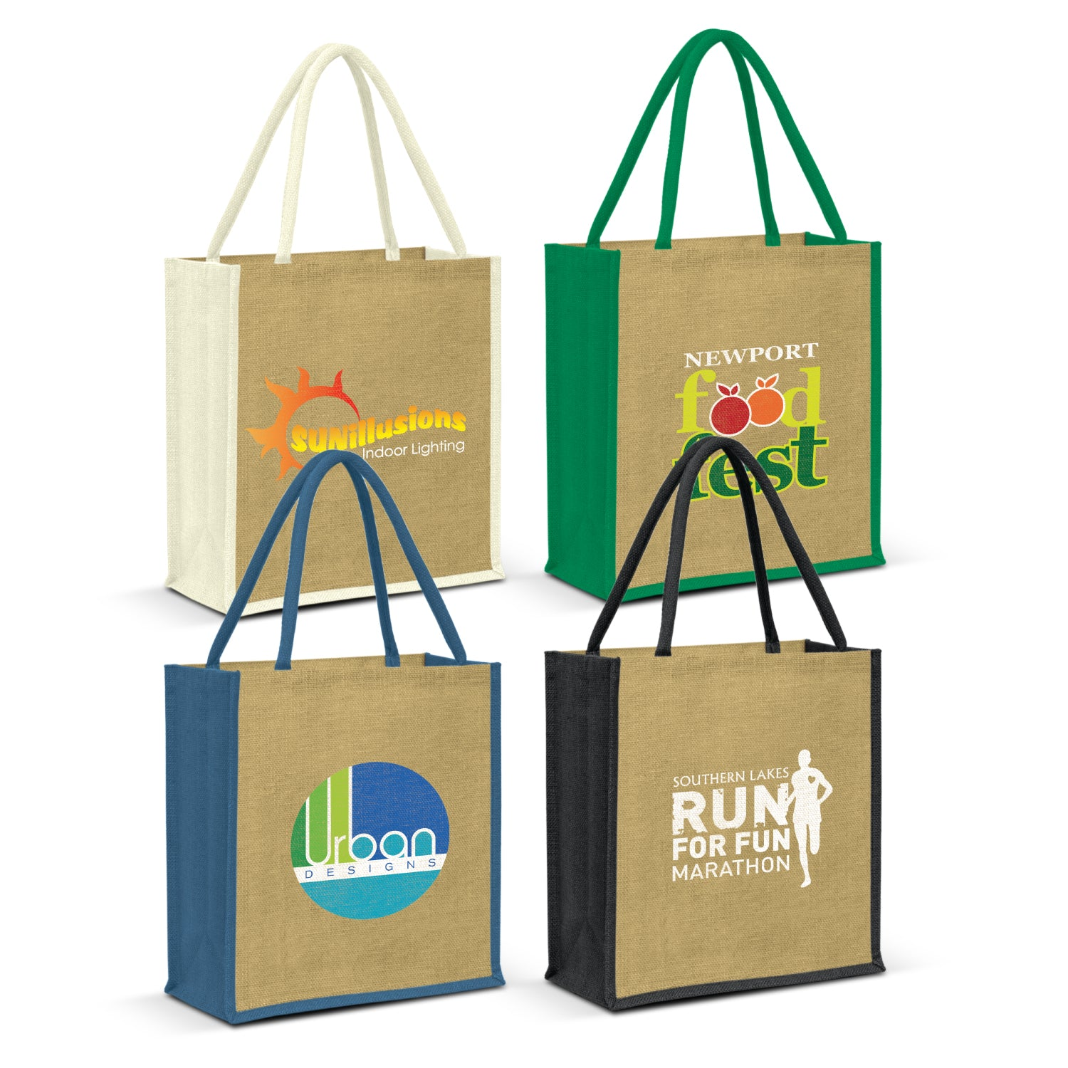 Stock Jute Portrait Shopper-Coloured(SJB-07T) - greenpac.com.au