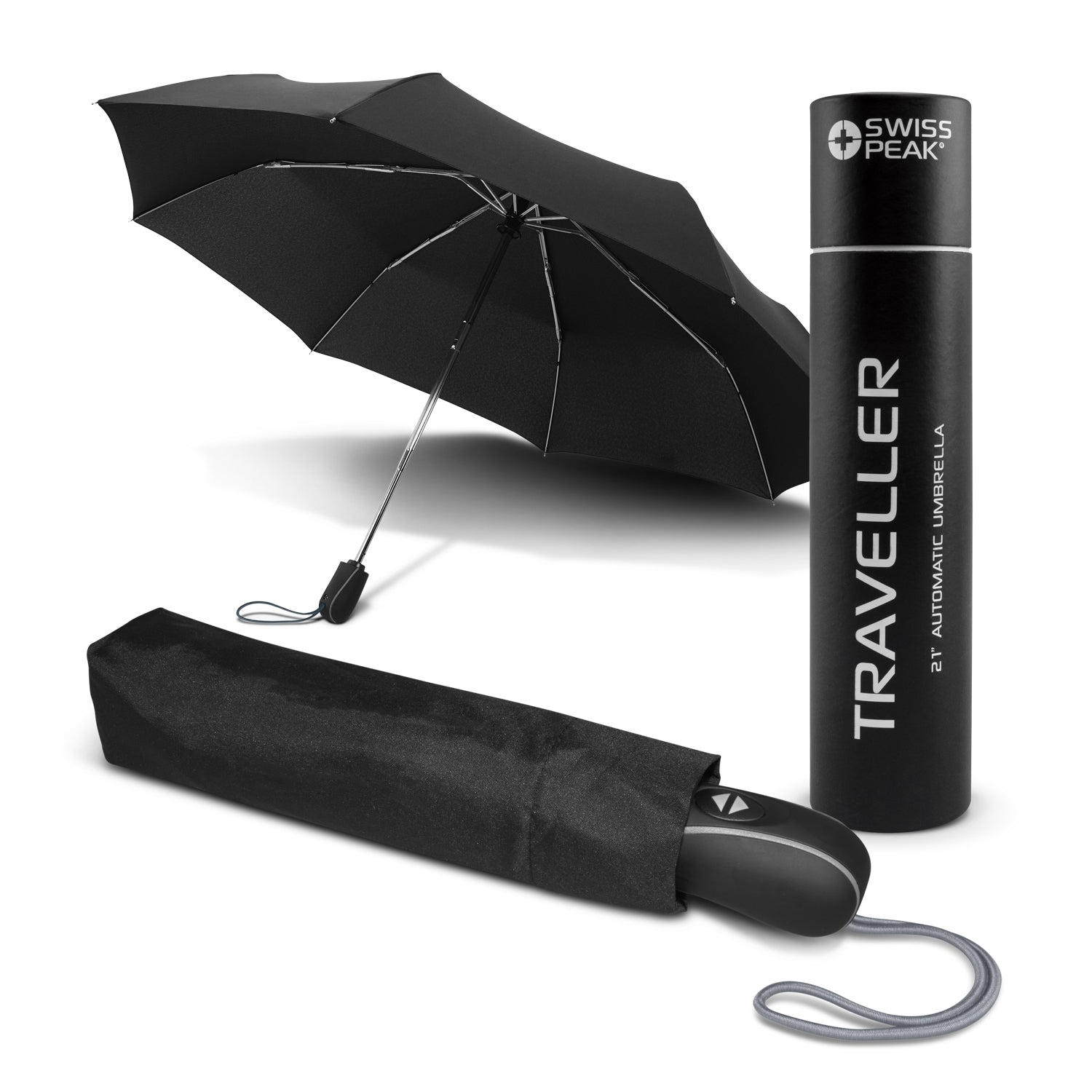 Premium Swiss Peak Traveller Umbrella(SUM-18T) - greenpac.com.au