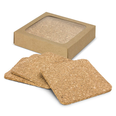 Cork Coaster Set of 4-Square(SDW-101T) - greenpac.com.au