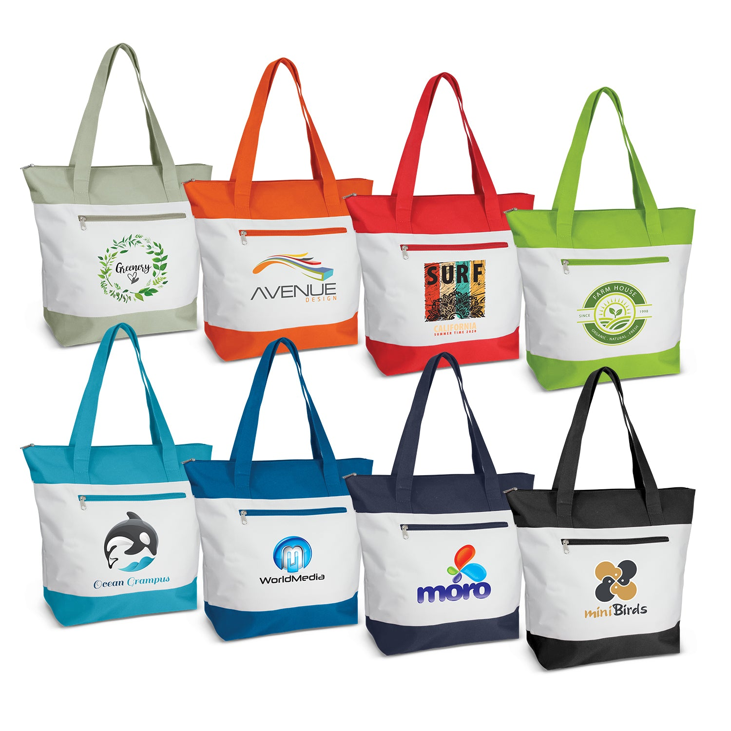 Stock Two Tone Nylon Tote(SNB-89T) - greenpac.com.au