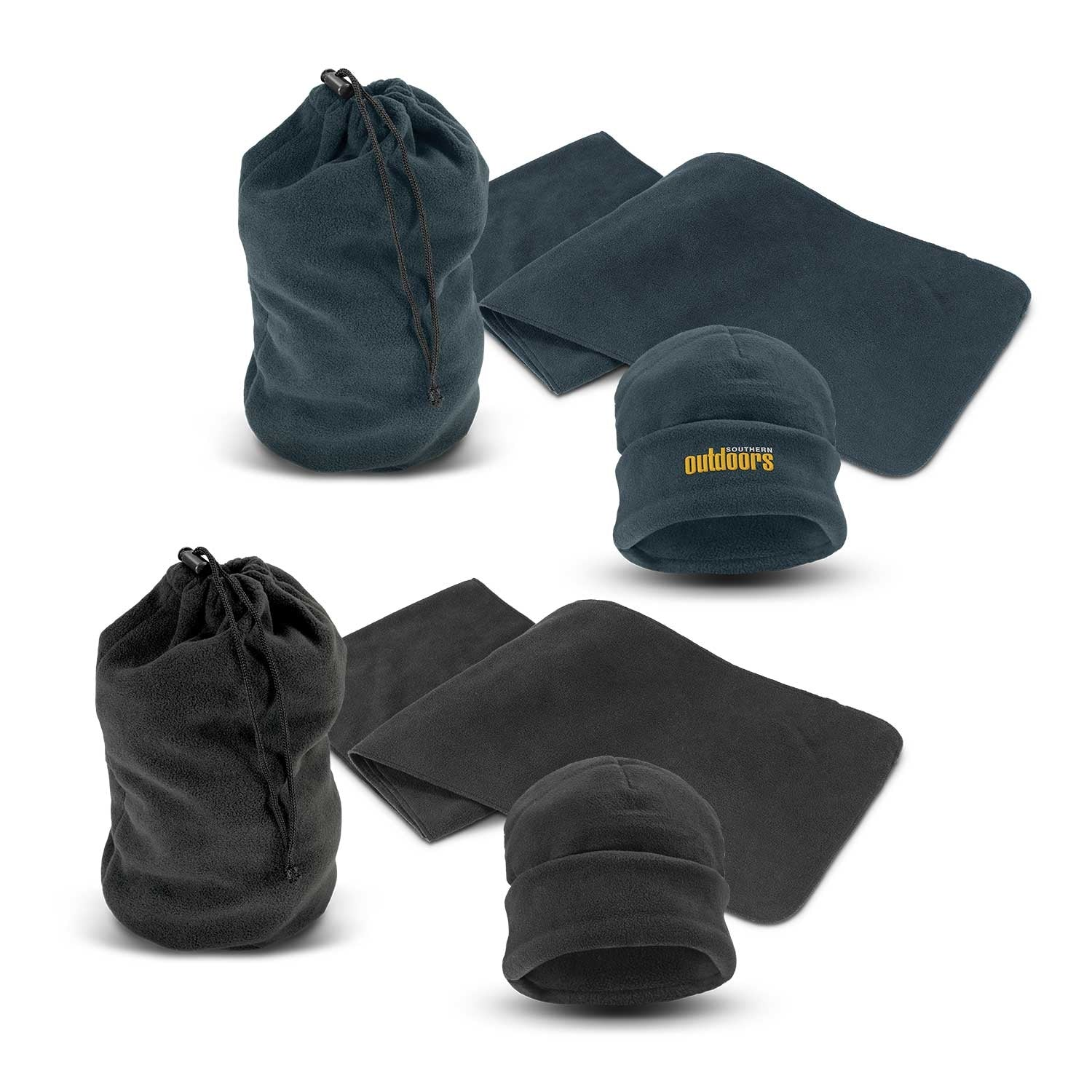 Fleece Scarf and Beanie Set(SHW-37T) - greenpac.com.au