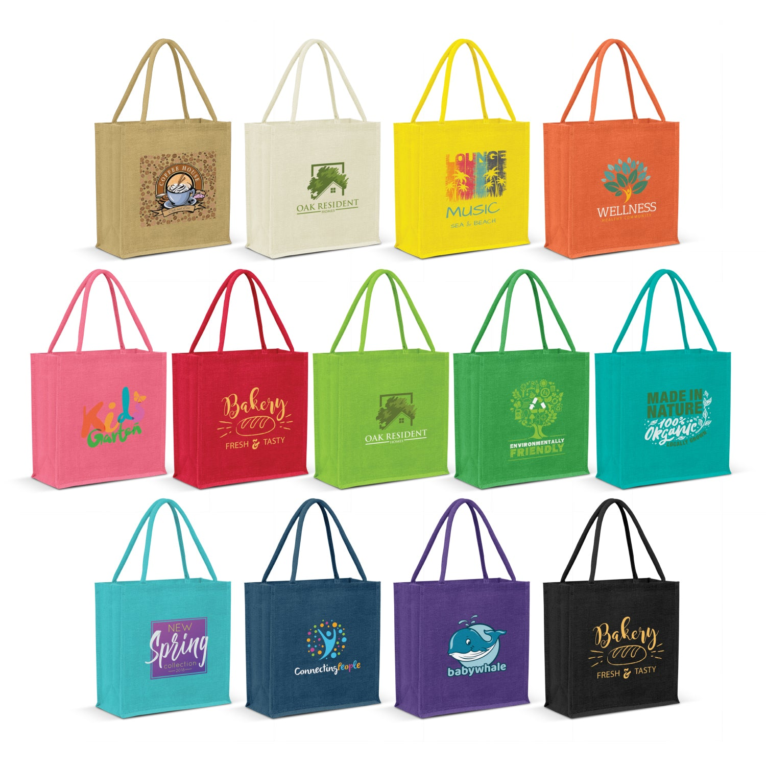 Stock Jute Square Shopper-Vivid(SJB-24T) - greenpac.com.au