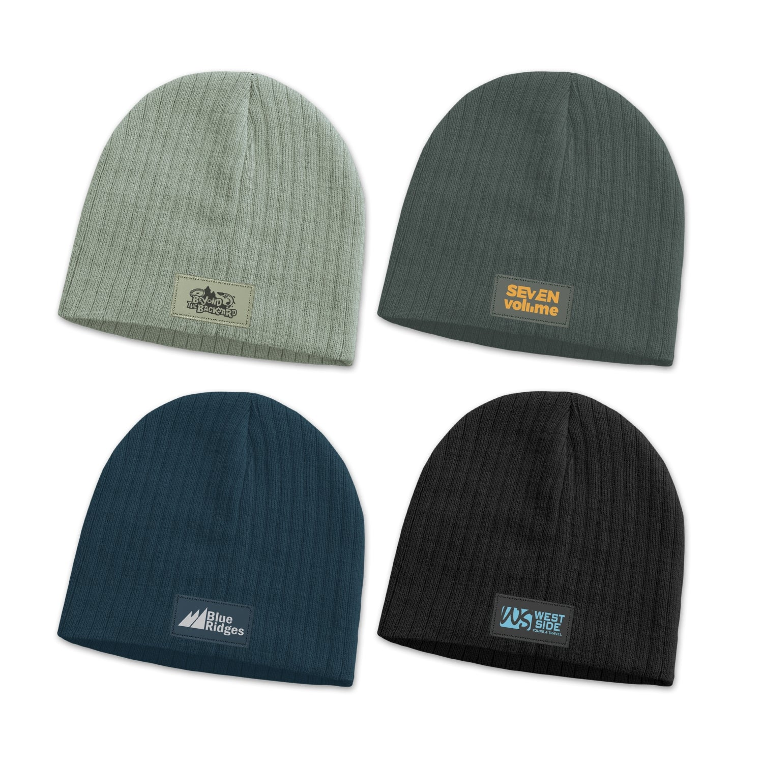 Cable Knit Beanie with Patch(SHW-26T) - greenpac.com.au