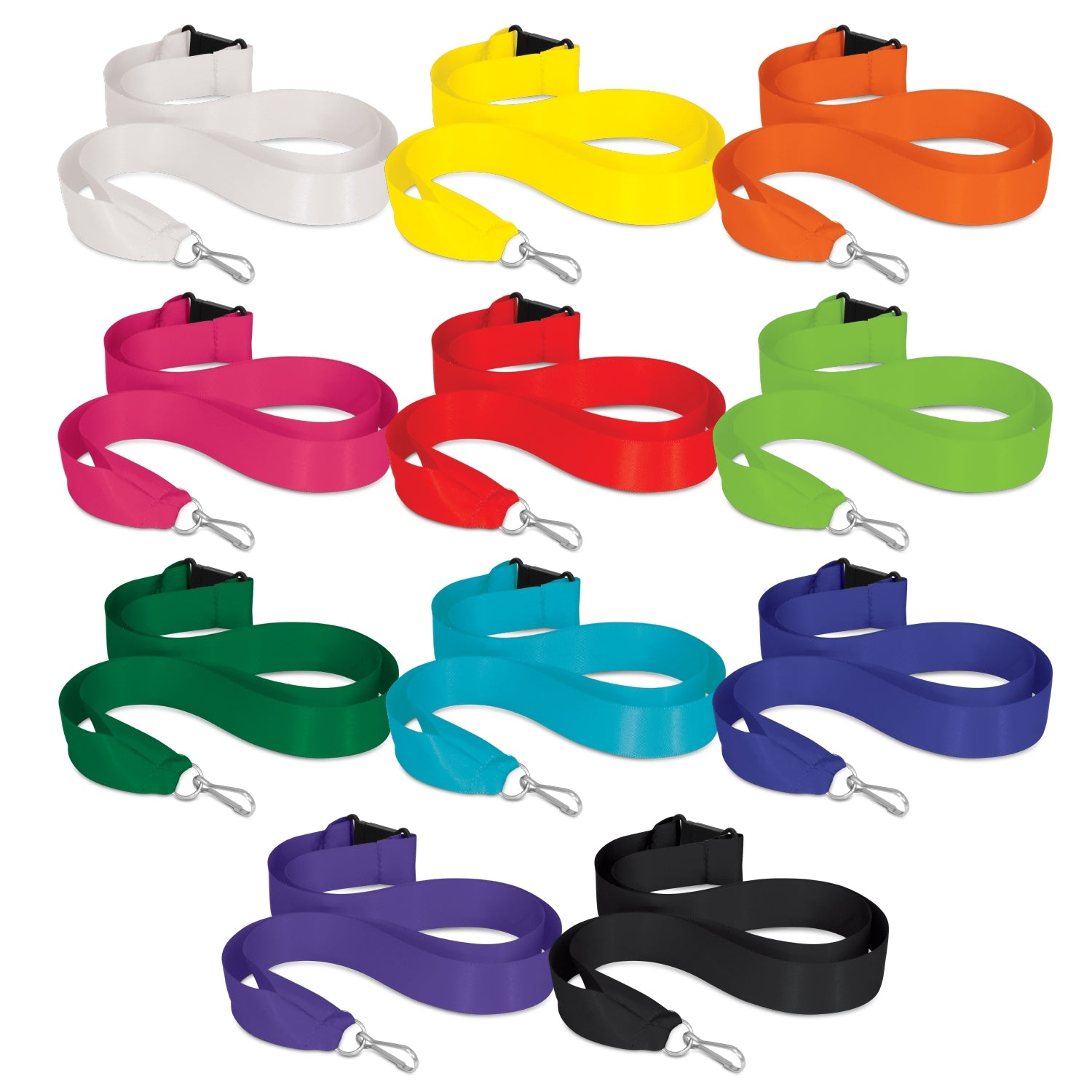 Satin Ribbon Lanyard(SLY-18) - greenpac.com.au