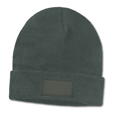 Roll Up Cuff Beanie with Patch(SHW-27T) - greenpac.com.au
