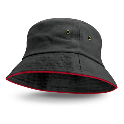 Premium Bucket Hat-Coloured Sandwich Trim(SHW-25T) - greenpac.com.au