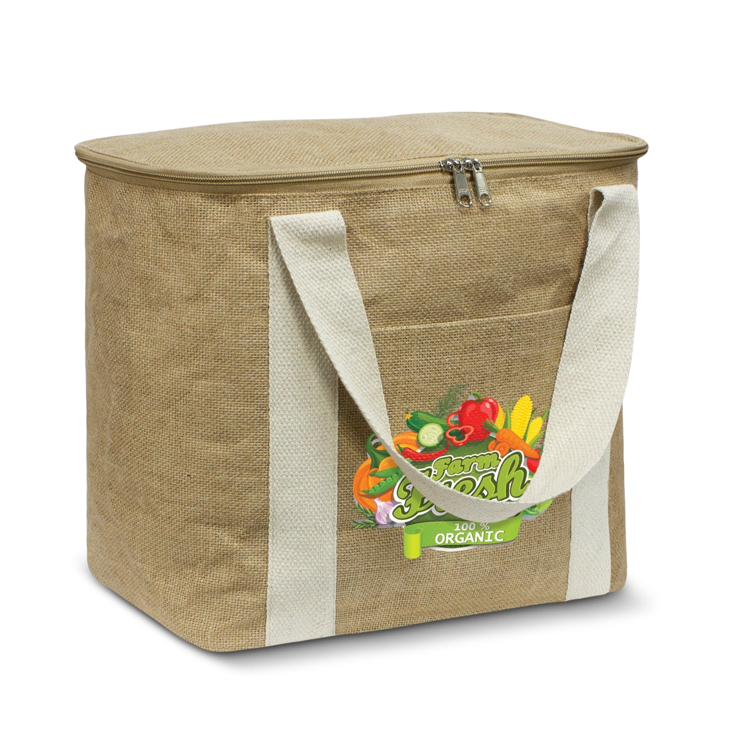 Stock Jute Cooler Bag-Large (SJB-18T) - greenpac.com.au