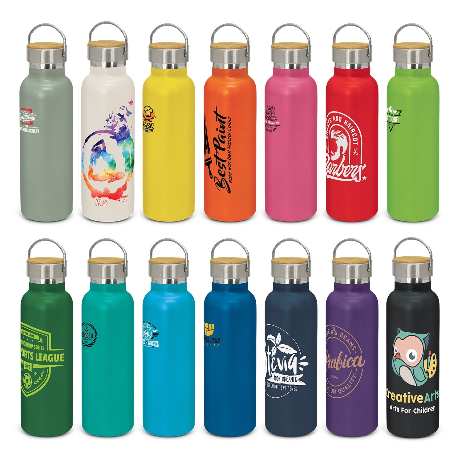 Nomad Deco Vacuum Bottle - Powder Coated (SDW-115T) - greenpac.com.au