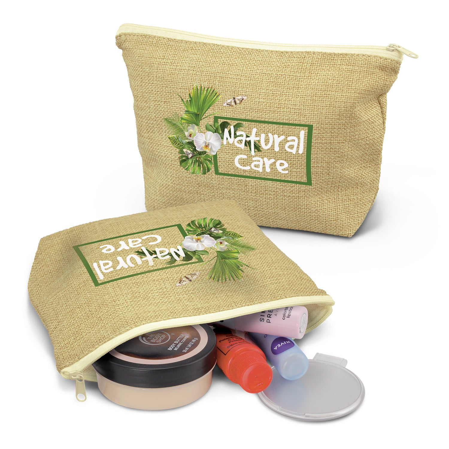Stock Poly-jute Cosmetic Bag(SJB-31T)