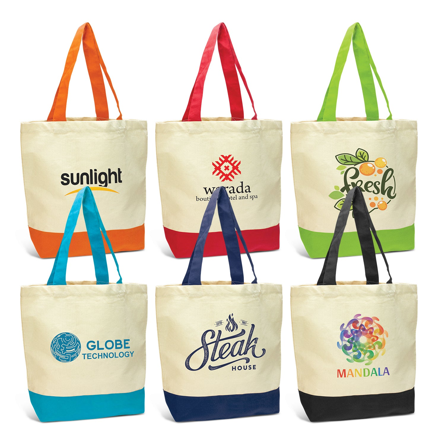 Stock Two Tone Cotton Tote(SCB-33T) - greenpac.com.au