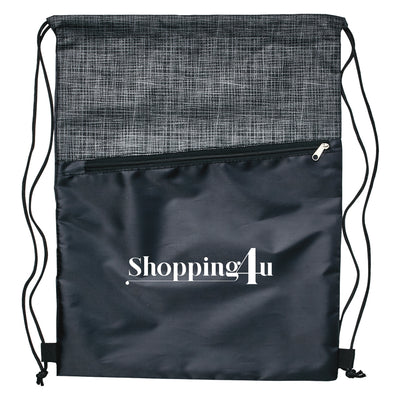 Stock Crosshatch Backpack with Zipper Pocket(SNB-95H) - greenpac.com.au