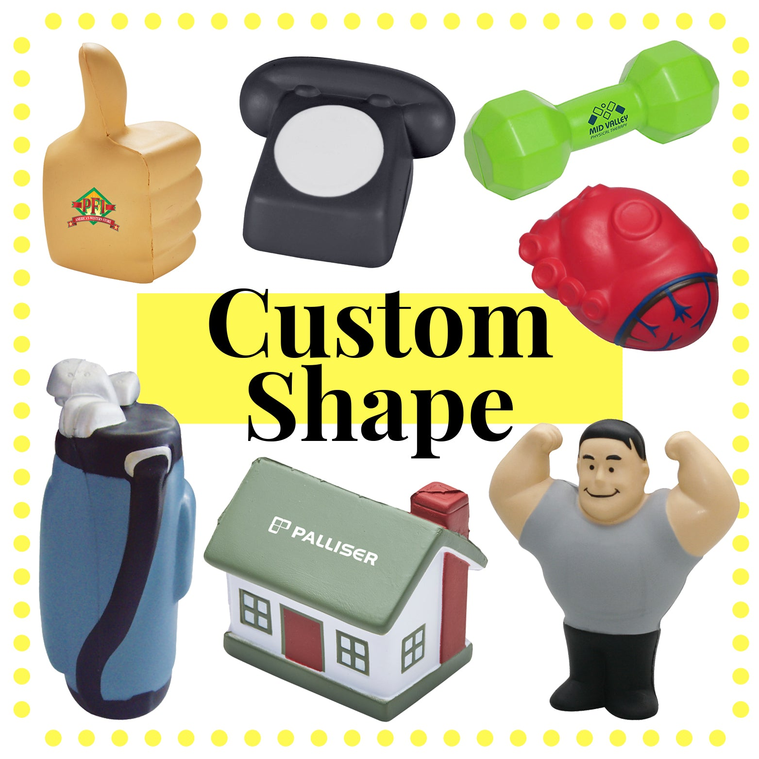 Custom Shape Stress Items(SSB-51) - greenpac.com.au