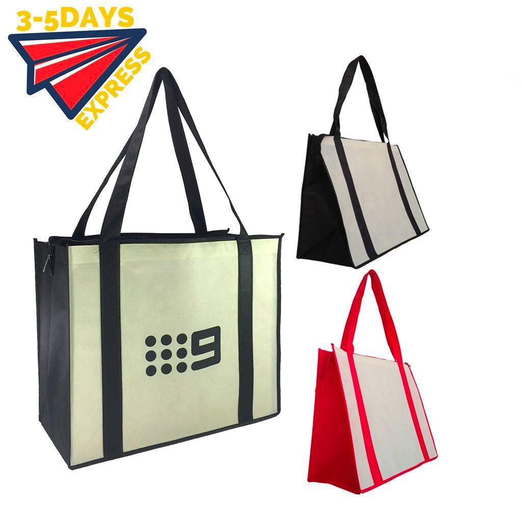 Stock NWPP Large Zipper Shopping Bag(SNB-38D)