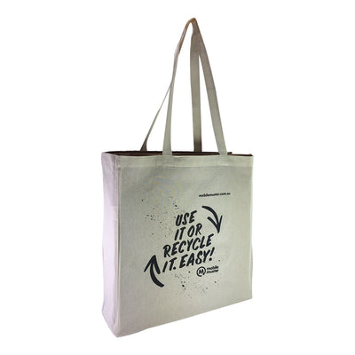 Stock Calico Shopping Bag with Gusset(SCB-06D)