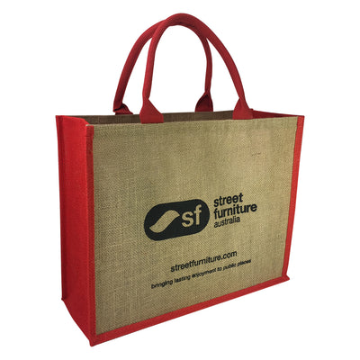Stock Jute Bag Coloured-Red(SJB-02D)