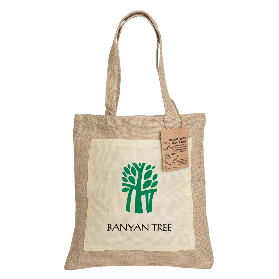 Stock Reforest Jute Tote Bag(SJB-20H) - greenpac.com.au