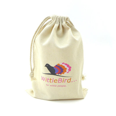 Calico Medium Drawstring  Bag(CA-08) - greenpac.com.au