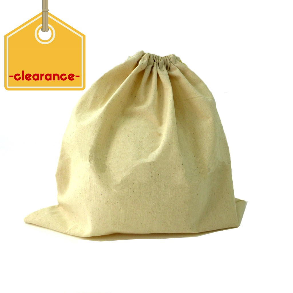 Clearance Calico Drawstring Bag(CCB-02) - greenpac.com.au
