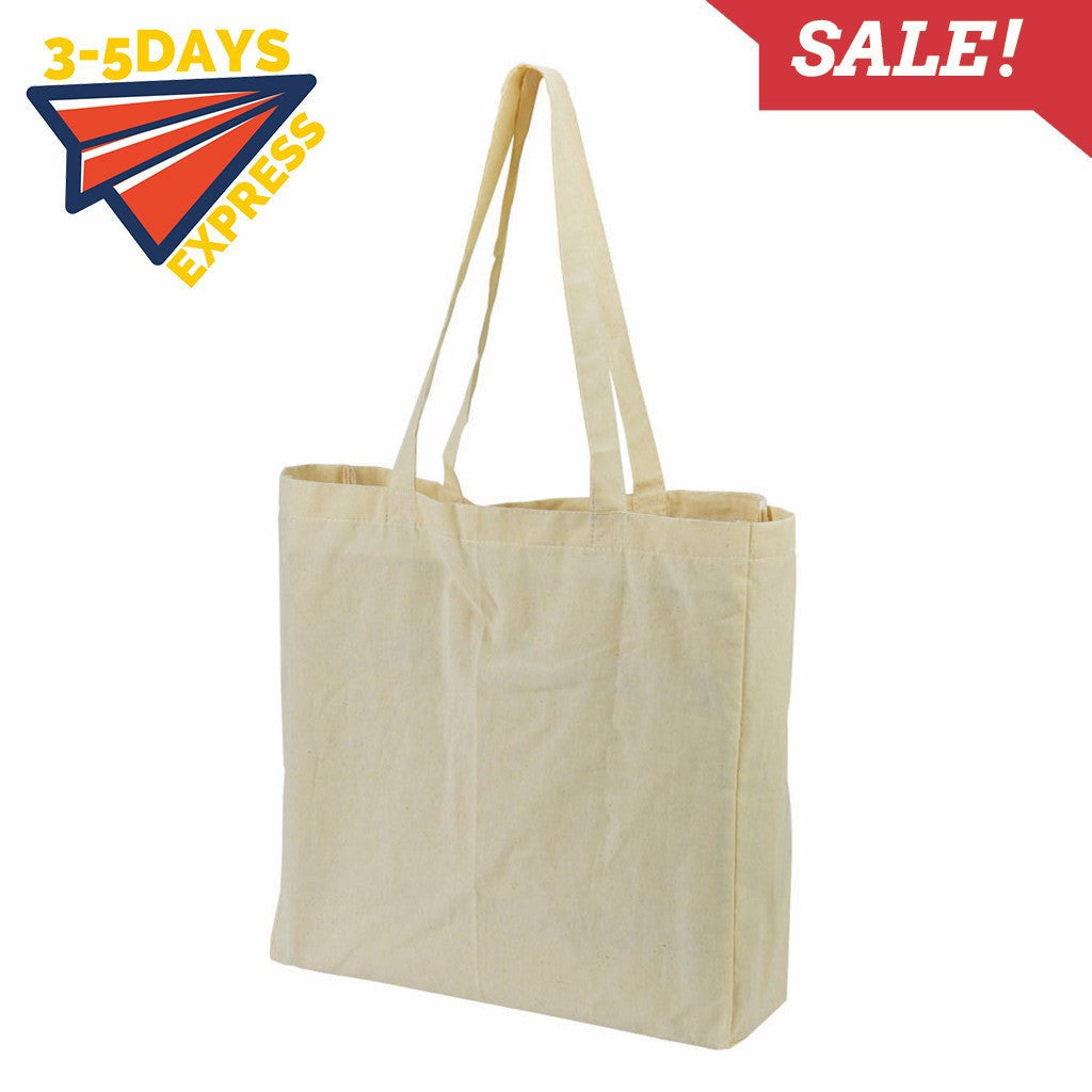 Stock Calico Bag With Gusset (SCB-13) - greenpac.com.au