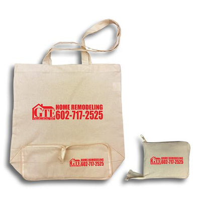 Stock Calico Fold Up Bag(SCB-23D) - greenpac.com.au