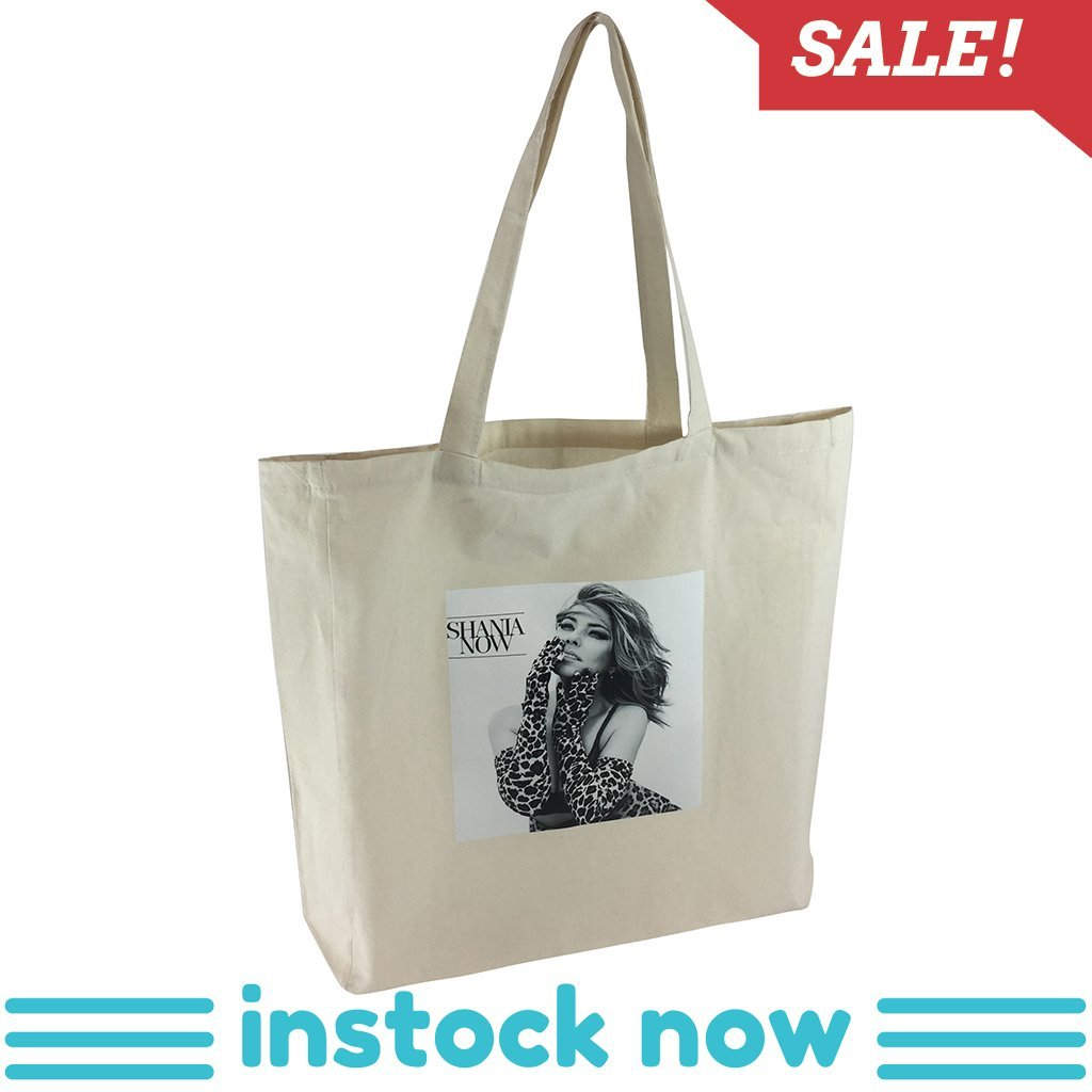 Stock Calico Shopping Bag With Extra Long Handle(SCB-19T) - greenpac.com.au