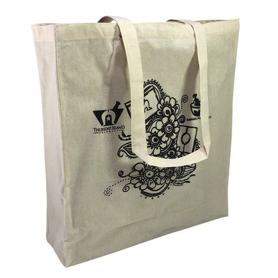 Calico Bag - Stock Calico Shopping Bag With Extra Long Handle(SCB-19T)