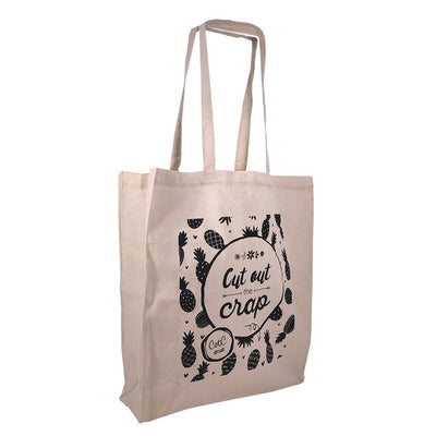 Calico Bag - Stock Calico Shopping Bag With Gusset(SCB-06D)