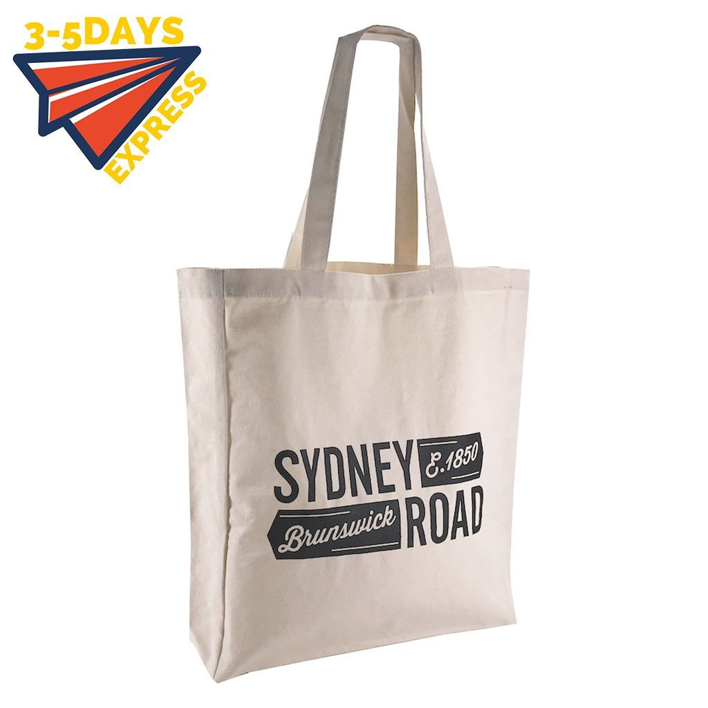Stock Calico Shopping Bag with Gusset(SCB-06D) - greenpac.com.au