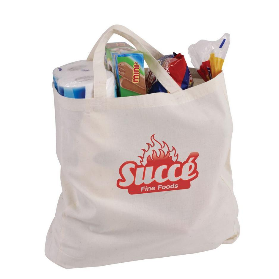 Stock Calico Shopping Bag With Short Handle(SCB-30P) - greenpac.com.au