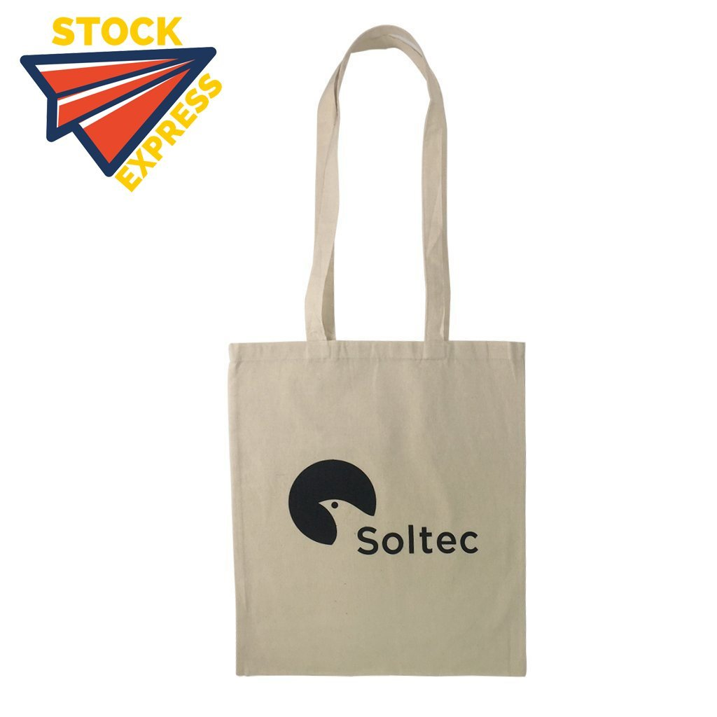 Stock Calico Tote Bag with Extra Long Handle(SCB-04) - greenpac.com.au