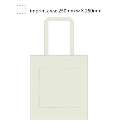 Stock Calico Tote Bag with Long Handle(SCB-04) - greenpac.com.au - 10