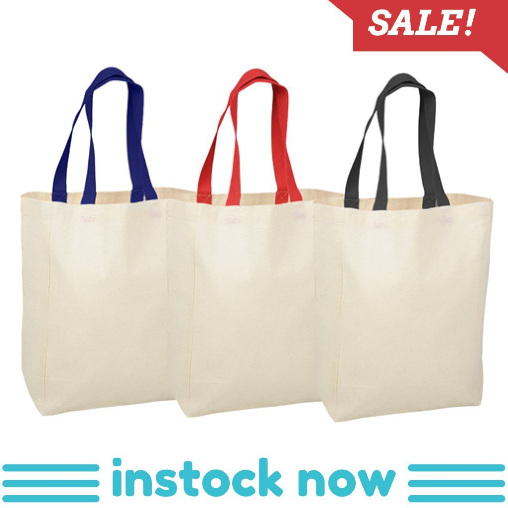Calico Bag - Stock Coloured Handle Calico Bag(SCB-15D)