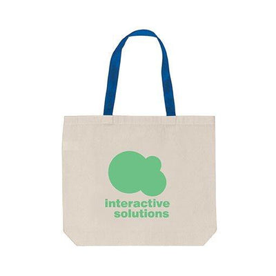 Coloured Handle Cotton Tote Bag(CB-23) - greenpac.com.au