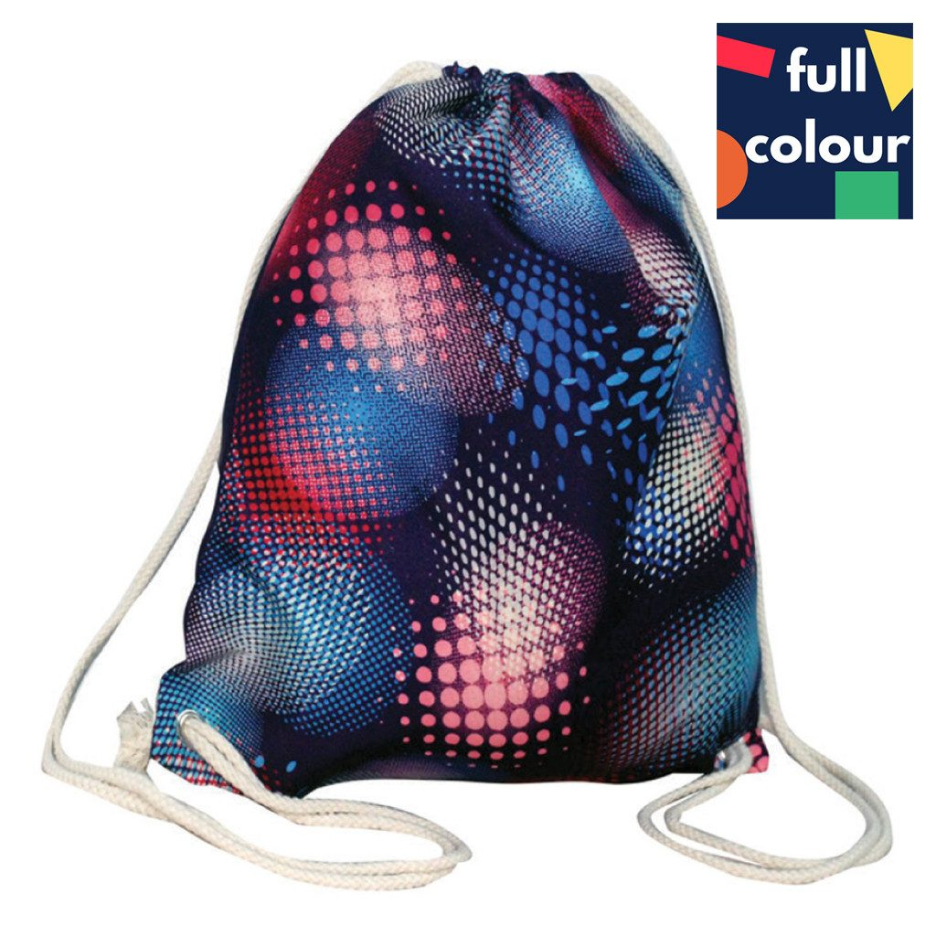 Calico Bag - Stock Full Colour Cotton Backpack(SCB-10)