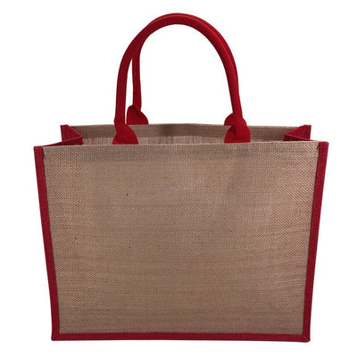 Stock Jute Bag Coloured-Red(SJB-02D) - greenpac.com.au