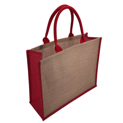 Calico Bag - Stock Jute Bag Coloured-Red(SJB-02D)