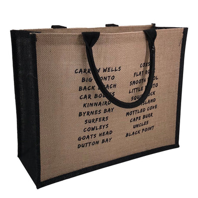 Stock Jute Bag Coloured-Black(SJB-02D) - greenpac.com.au