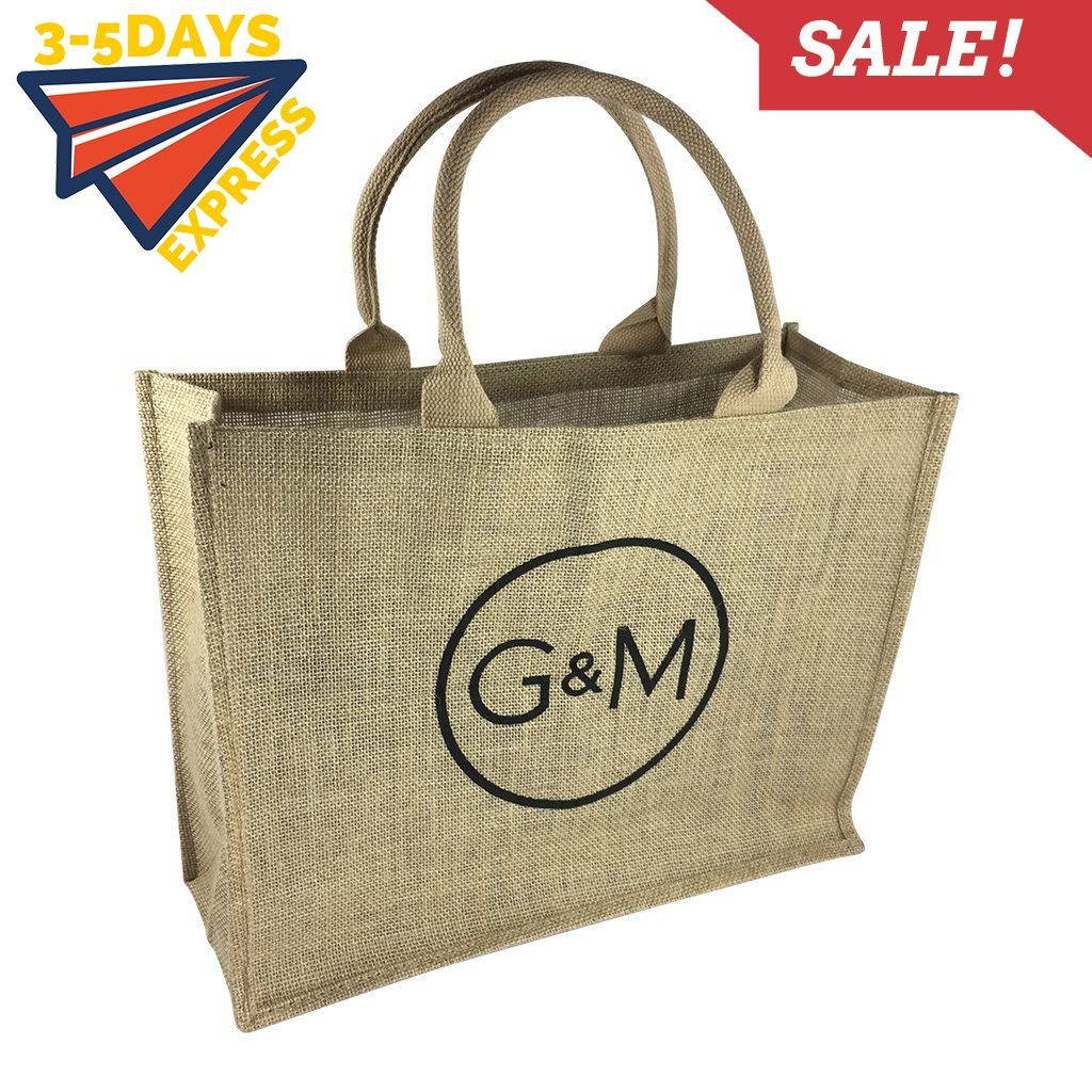 Stock Jute Bag Natural(SJB-01D) - greenpac.com.au