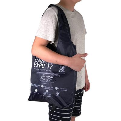 Stock Nylon Foldable Shopper(SNB-17D) - greenpac.com.au