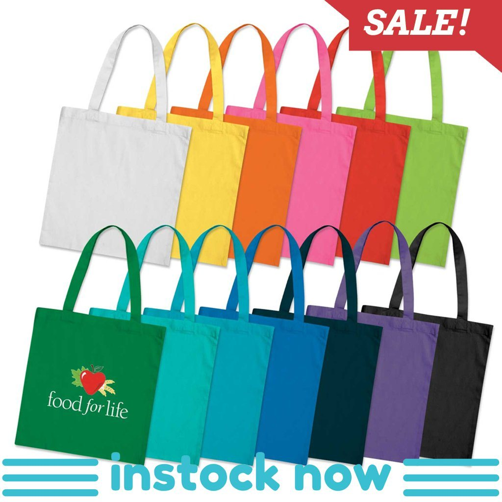 Stock Vivid Cotton Tote(SCB-18T) - greenpac.com.au