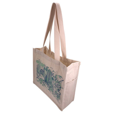 Cotton Show Bag With Gusset(CB-25) - greenpac.com.au