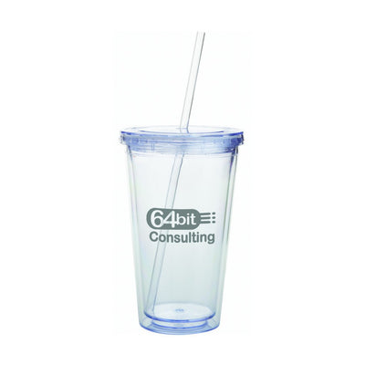 Double Wall Tumbler with Straw - 532ml(SDW-01) - greenpac.com.au