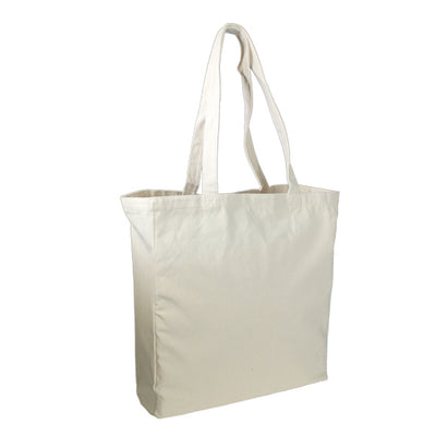 Stock Thick Canvas Shopping Bag with Gusset(SCB-32G) - greenpac.com.au