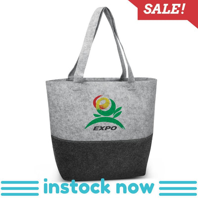 Stock Felt Two tone Tote Bag(SFB-02T) - greenpac.com.au