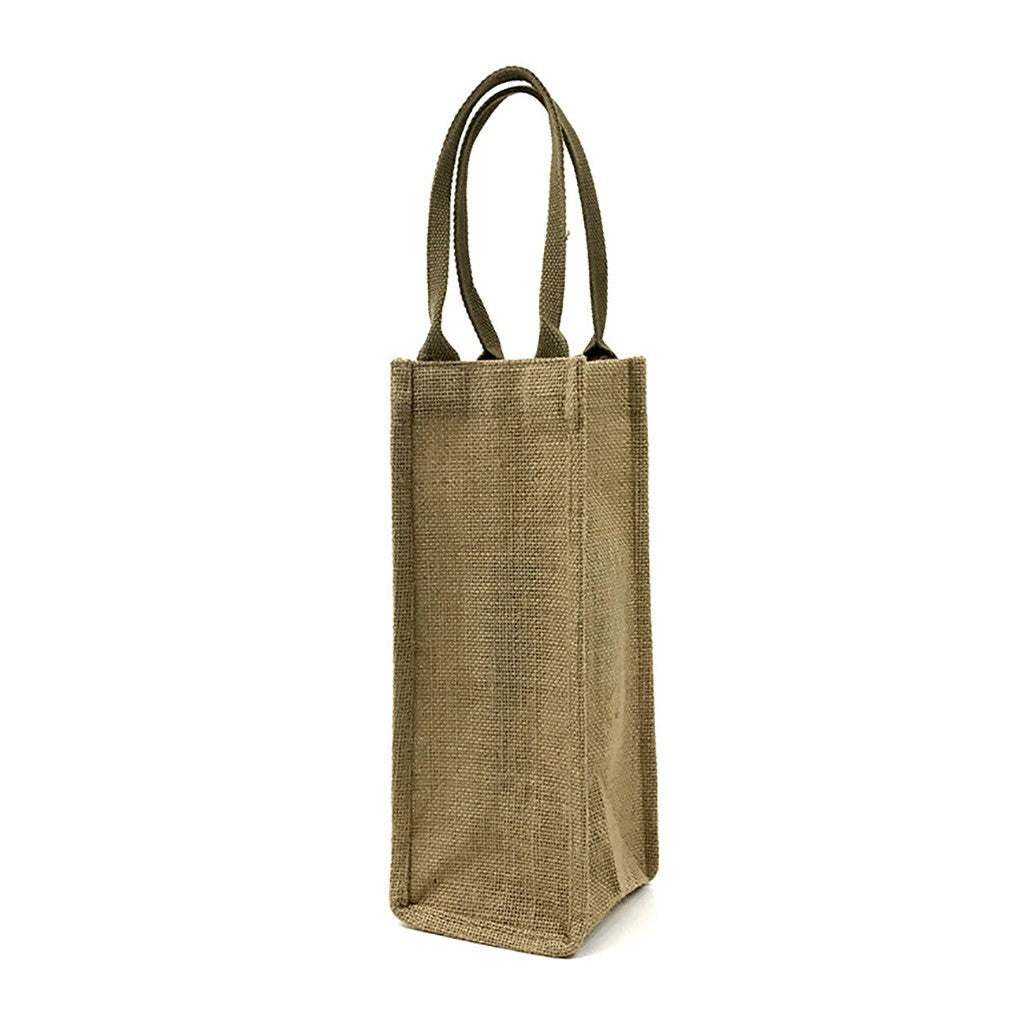 Jute 1 Bottle Wine Bag(JB-15) - greenpac.com.au