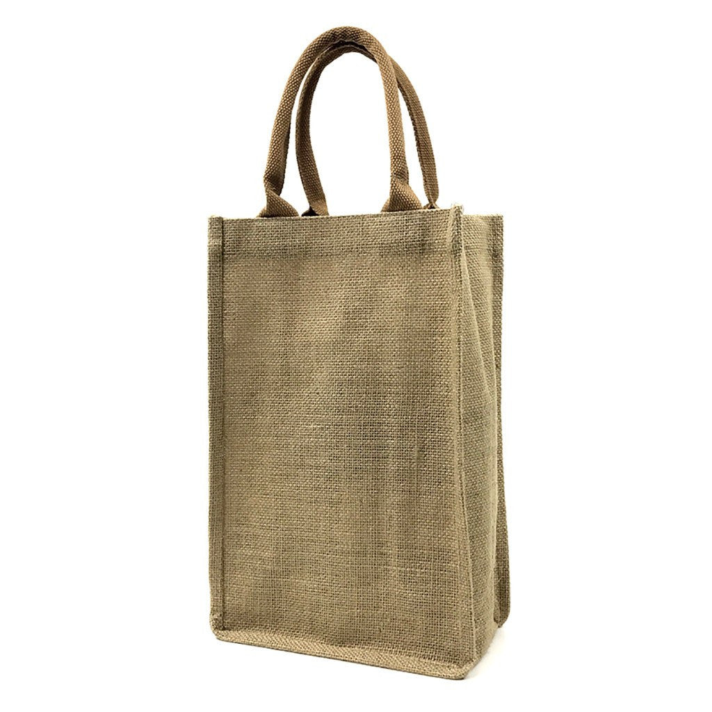 Jute 2 Bottles Wine Bag(JB-16) - greenpac.com.au