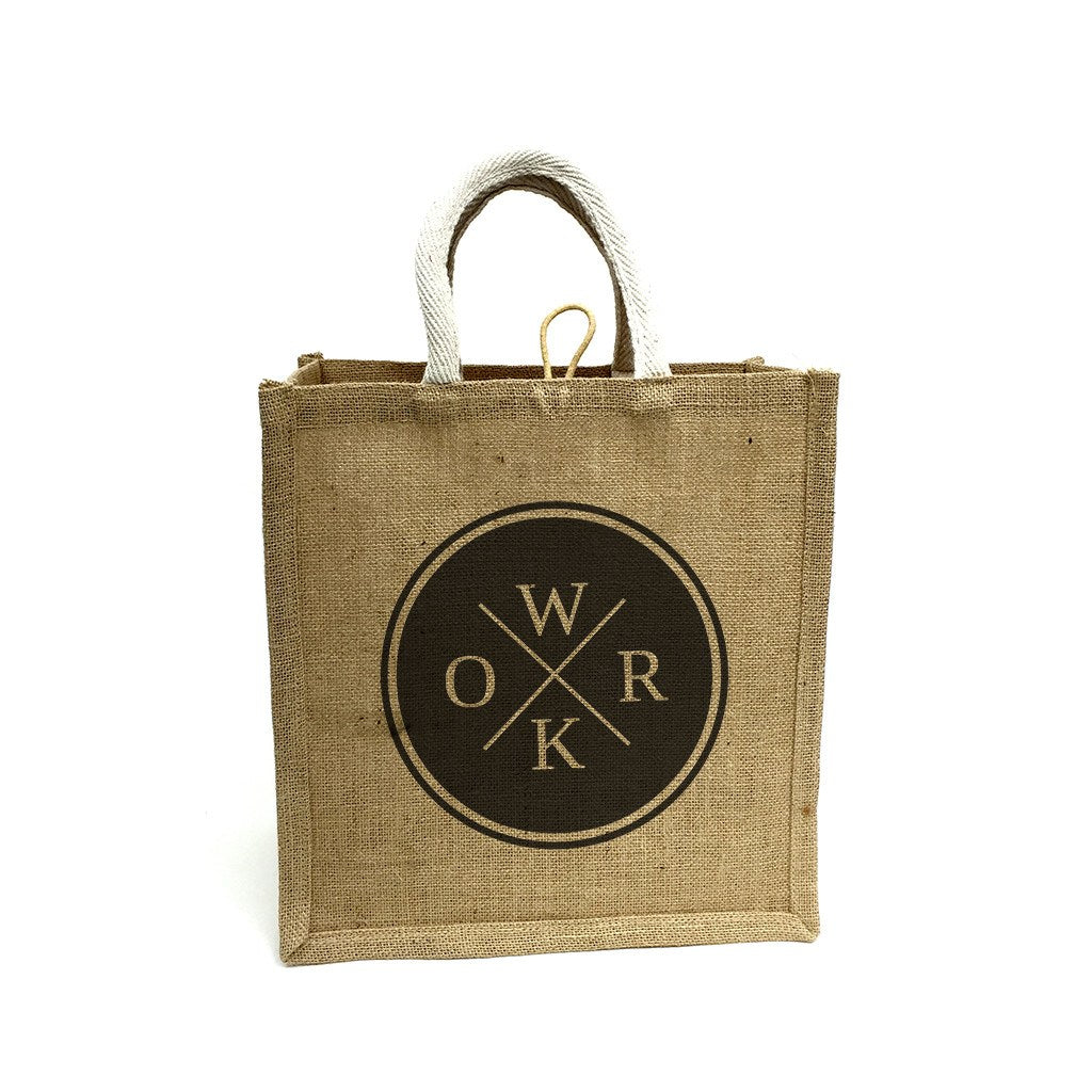 Jute Supermarket Bag-Square(JB-11) - greenpac.com.au