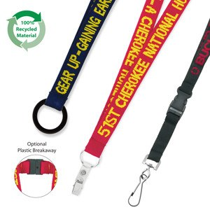 19mm Enviro Friendly Woven Text Lanyard(SLY-12) - greenpac.com.au
